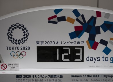 A countdown clock today in Tokyo.