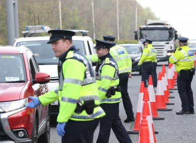 A garda checkpoint on the M11, as part of Operation Fanacht, yesterday.