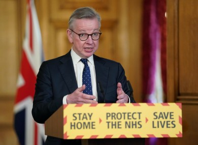 Chancellor of the Duchy of Lancaster Michael Gove (file photo).
