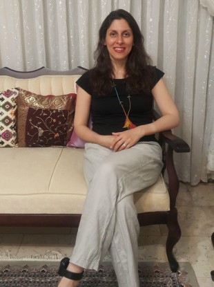 Nazanin Zaghari-Ratcliffe pictured during her temporary release in her parents' home.