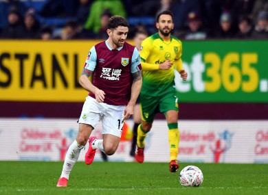 Burnley want to keep Brady for another season.