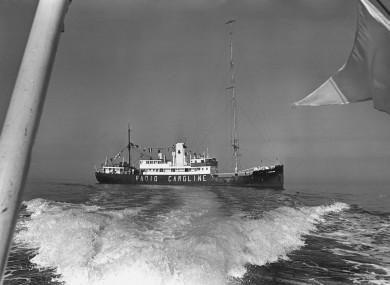 Radio Caroline North, anchored off Ramsey, Isle of Man, in 1967.