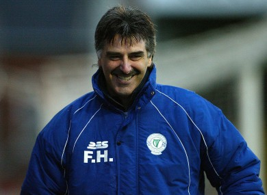 Felix Healy pictured during his stint as Finn Harps manager.