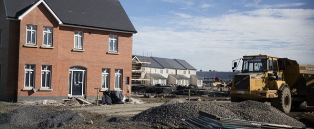 House building taking place on a construction site in Citywest, Dublin.