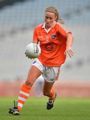Marian McGuinness in action for Armagh,