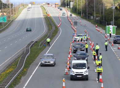 A checkpoint on the N7 over the weekend.