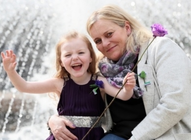 Julie Forster and her daughter Ruth Forster (5), from Enniscorthy, who both live with cystic fibrosis. Stock image.