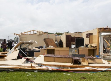 Tornadoes also caused damage in Louisiana.