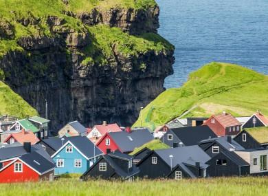 Gjogv, a picturesque village in the north of Eysturoy, Faroe Islands
