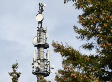 A file photo of a 5G tower.
