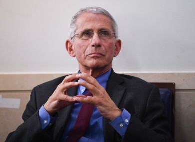 Dr Anthony Fauci is a senior advisor to the president during the outbreak.