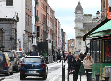 South William Street, which was pedestrianised on a trial basis last year.