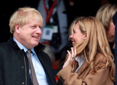 Boris Johnson and his partner Carrie Symonds.