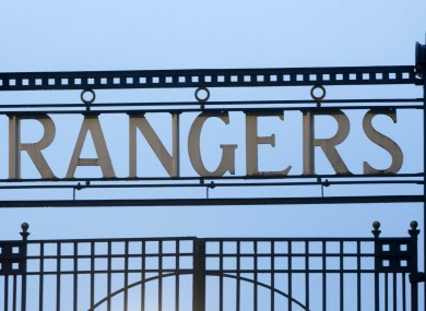 Rangers presented their dossier this morning.
