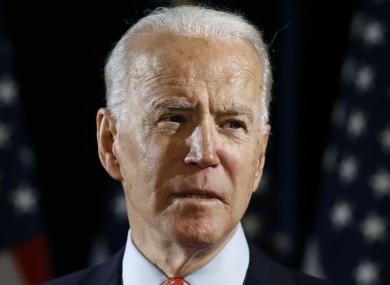 File photo of the Democrat's presumptive presidential nominee, Joe Biden.