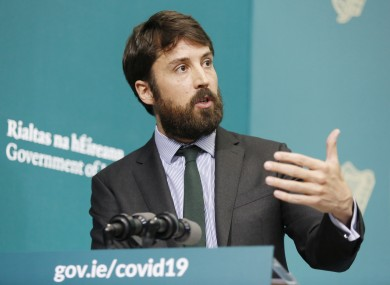 Minister Eoghan Murphy at a press conference earlier this month.