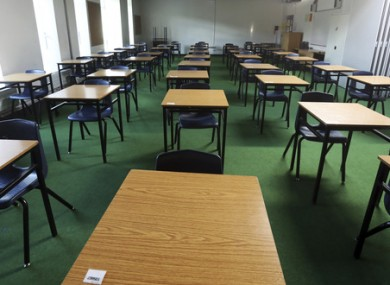 Am empty classroom in Dublin. (File photo)