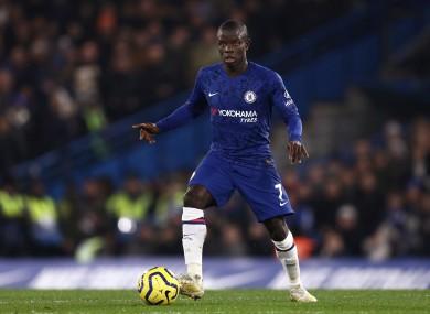 Chelsea player N'Golo Kante.