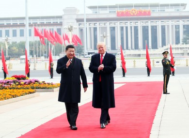 Chinese President Xi Jinping and US President Donald Trump pictured in 2017.