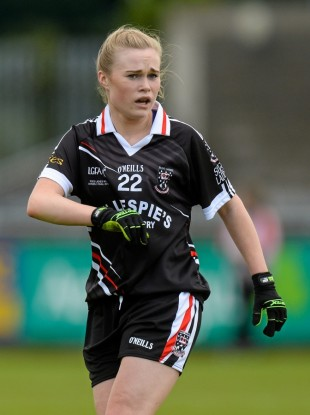 Sligo forward Denise McGrath eyes up the target during the 2015 Ladies National Football League Division 3 Final against Waterford in Parnell Park.