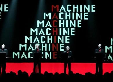 The German band Kraftwerk perform in Berne, Switzerland in 2004, with Florian Schneider-Esleben at right