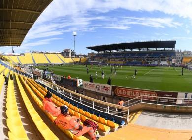A view of Parma's Stadio Ennio Tardini.