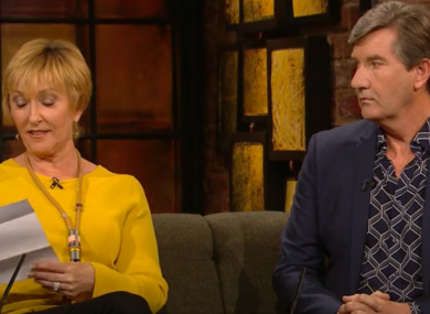 Majella and Daniel O'Donnell on last week's Late Late Show.
