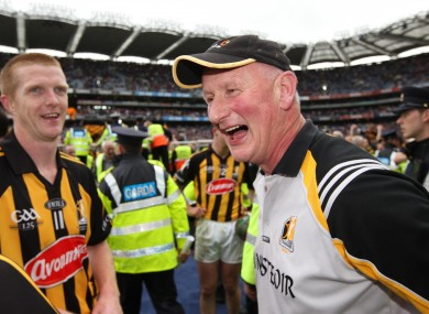 Brian Cody and Henry Shefflin celebrate after the match.