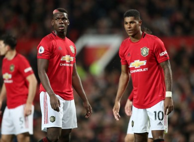 Rashford and Pogba are on the way back from injury.
