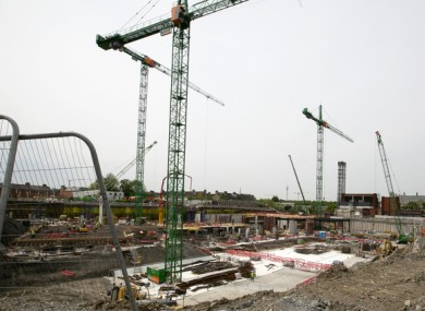 File image from 2019 of construction at the site of the National Children's Hospital.