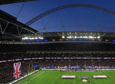 NFL International Series match at Wembley Stadium, London in 2019.