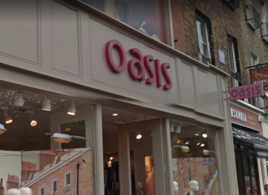 Oasis storefront on St Stephen's Green.