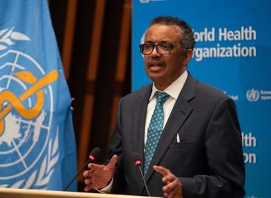 World Health Organisation (WHO) Director-General Tedros Adhanom Ghebreyesus