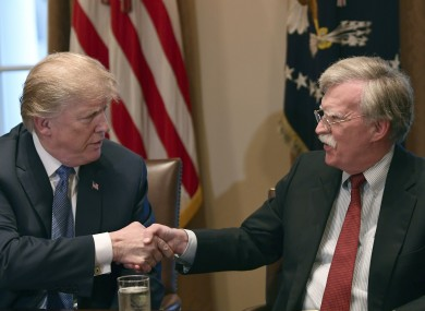Donald Trump and John Bolton in more genial times.