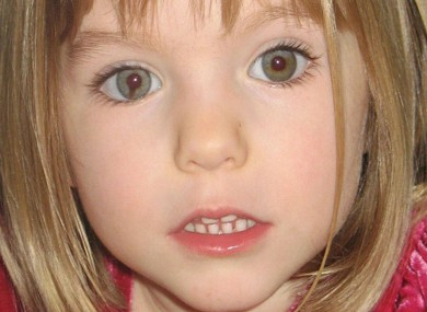 File photo. Madeleine McCann went missing in Portugal in May 2007.