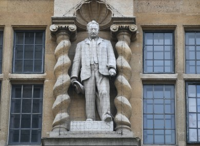 The statute of Cecil Rhodes in question.