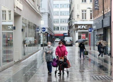 Shoppers in Belfast yesterday after shopping centres and retailers were given the green light to reopen.