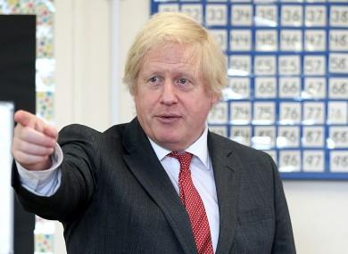 Boris Johnson (file photo).