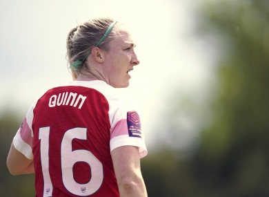 Quinn: 76 appearances and seven goals for Arsenal.