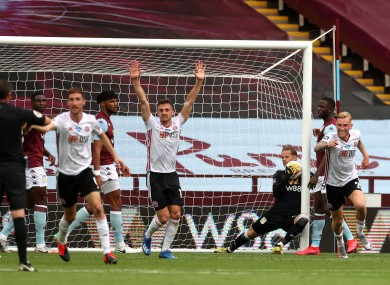 Controversy emerged during Sheffield United's clash with Aston Villa.