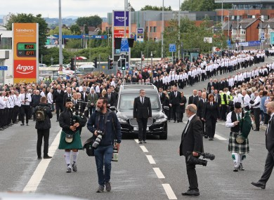 The funeral procession of senior Irish Republican and former leading IRA figure Bobby Storey
