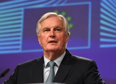 File photo of Michel Barnier, the EU's chief Brexit negotiator.