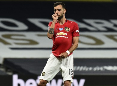 Manchester United's Bruno Fernandes scored against Spurs last time out.