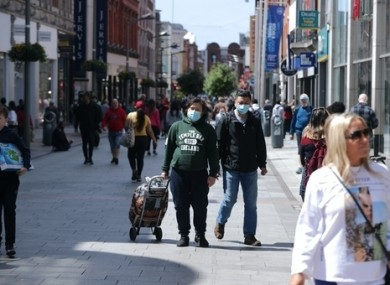 People shopping on Henry Street in Dublin.