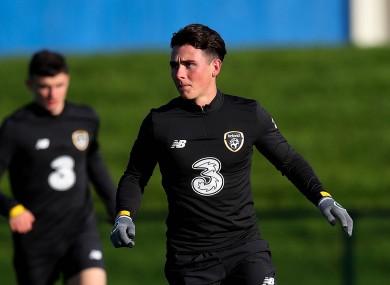 Danny McNamara made his Republic of Ireland U21 debut under Stephen Kenny last November.