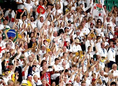 A general view of England fans at the 2019 Rugby World Cup.