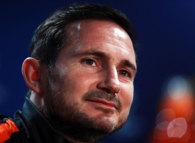 Chelsea manager Frank Lampard (file pic).
