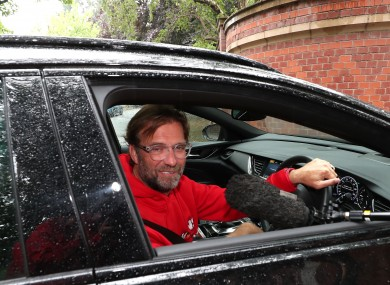 Driving force: Klopp pictured at his home yesterday.