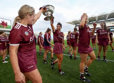 Galway celebrate winning the 2019 All-Ireland.