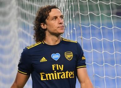 David Luiz is sent off.